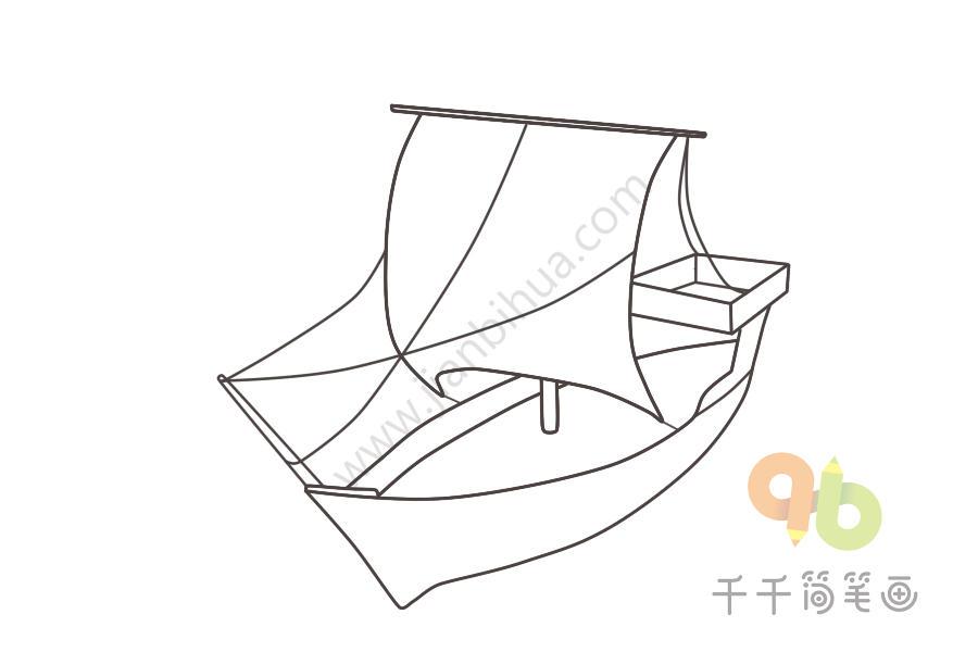 中世纪步骤简笔画酒店图太原悦宾帆船v步骤图片