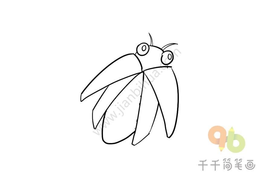 儿童简单画 萤火虫简笔画步骤图