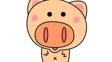猪猪简笔画