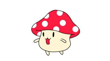 蘑菇小怪简笔画