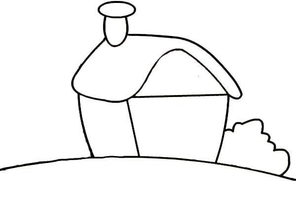 外婆的红房子简笔画