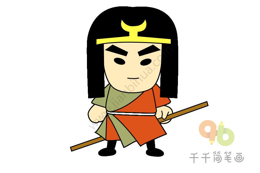 手绘古代公主_武松简笔画图片教程_古代人物