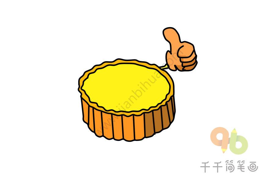 中秋习俗 简笔画_月饼步骤简笔画_中秋节 - 千千简笔画