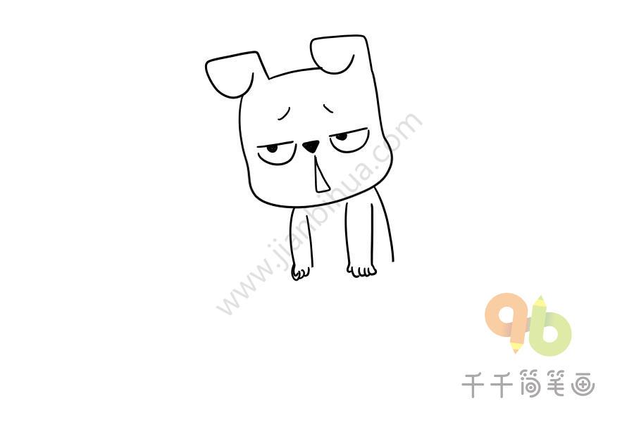 累成狗漫画_累成狗表情包简笔画_表情包