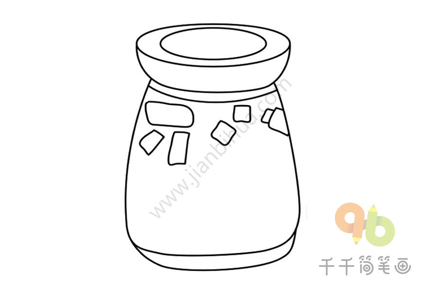 鲜榨水果汁简笔画