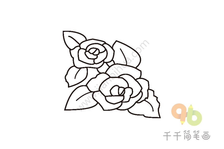 送给女朋友最好的礼物 玫瑰花简笔画
