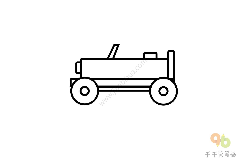 简笔画大全100种汽车