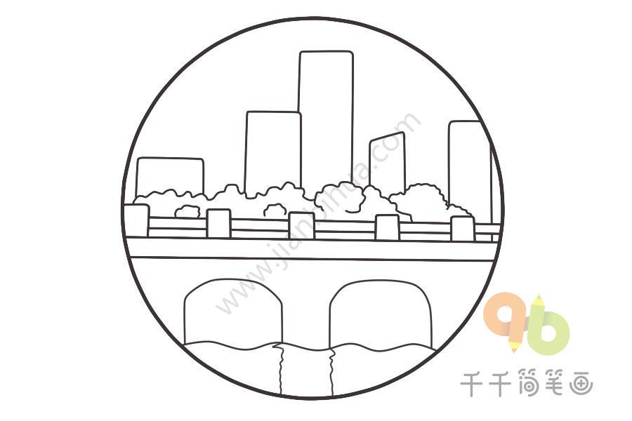 城市建筑简笔画步骤图