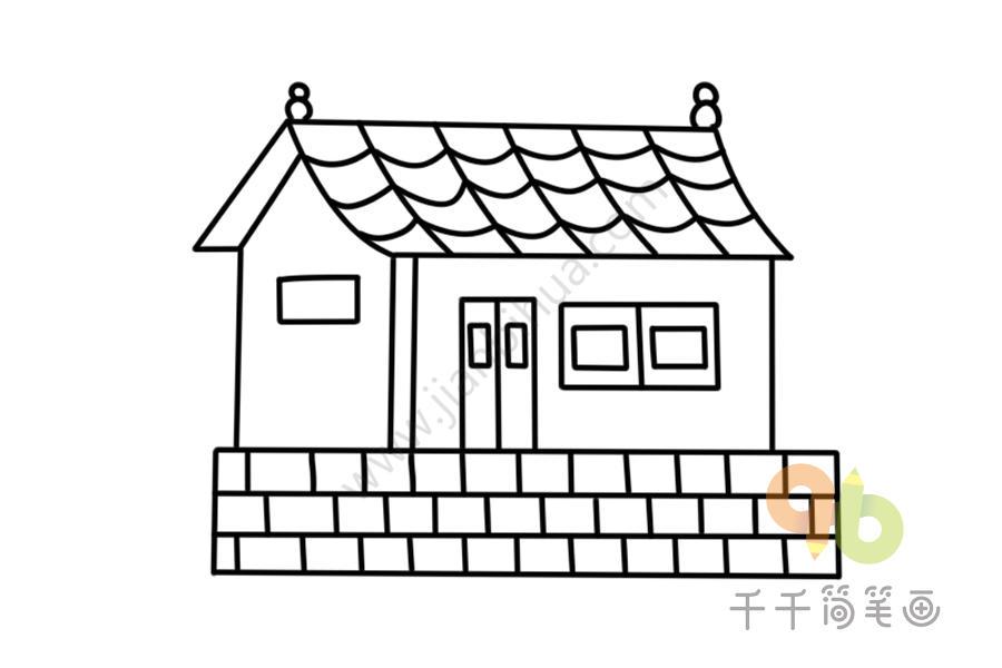简单画 寺庙简笔画