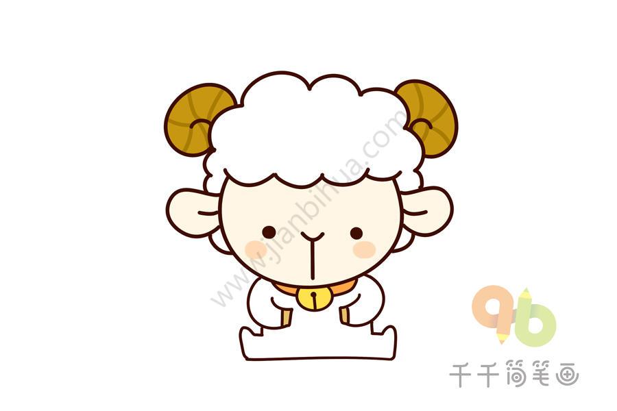 动物世界 小羊简笔画图片大全