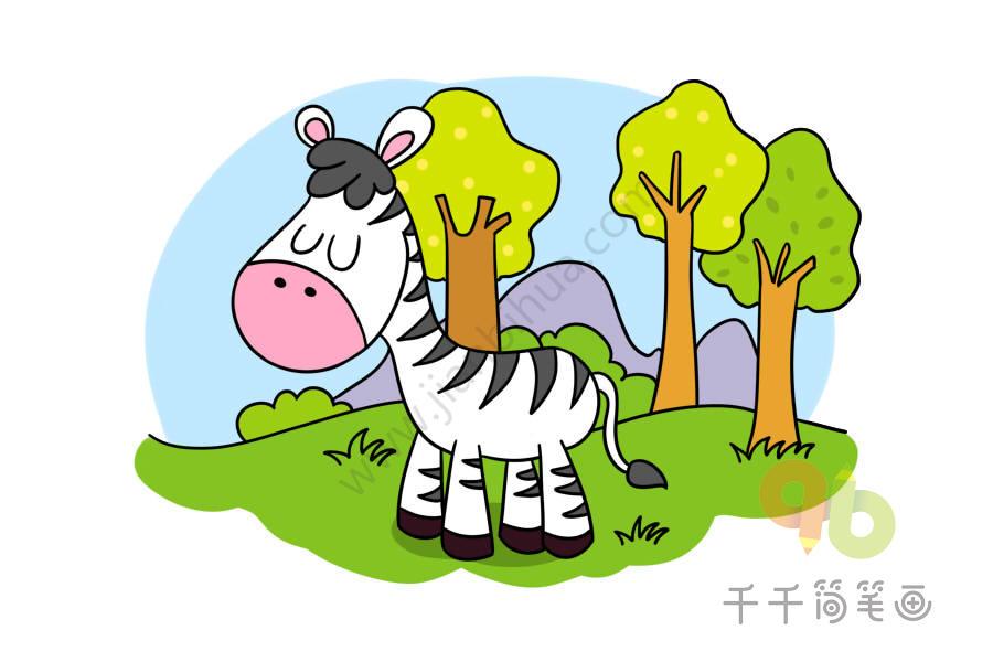 兔子简笔什么颜色好看_一起来画好看又简单的动物简笔画_主题简笔画