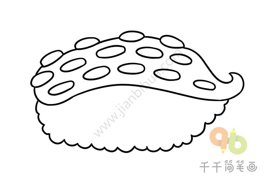 怎样画寿司简笔画