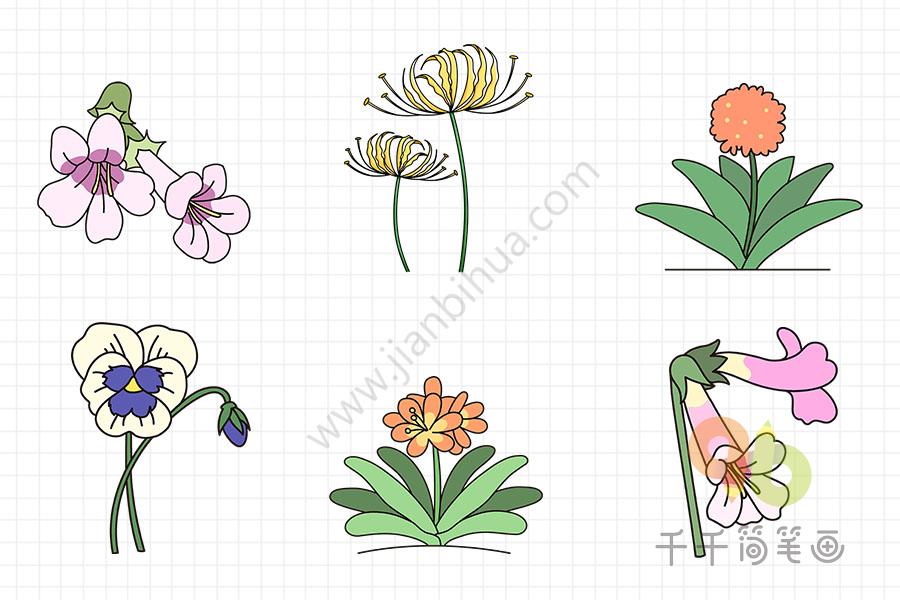 如何画美丽的花朵   花朵简笔画轻松画   怎么画花朵简笔画   各种美丽的花朵简笔画大全,春天百花盛开,花园里一片美丽繁荣的景象.