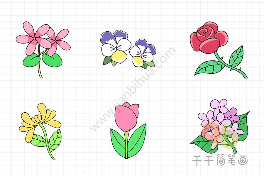 跟着步骤一步一步画出花朵   花朵简笔画亲子画   花朵怎么画简单   如何画美丽的花朵   花朵简笔画轻松画   怎么画花朵简笔画