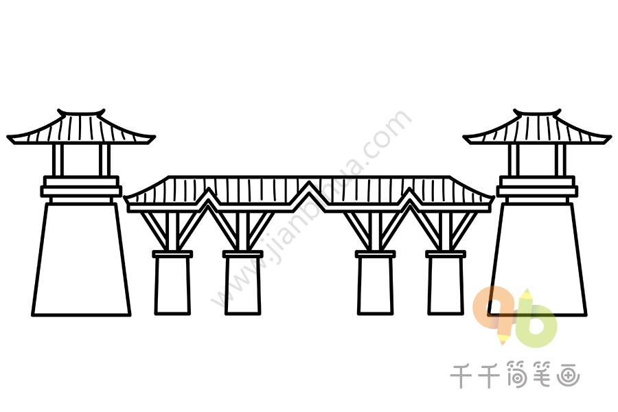 成都市彭州丹景山旅游景区简笔画