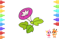线条简单的花朵简笔画图片