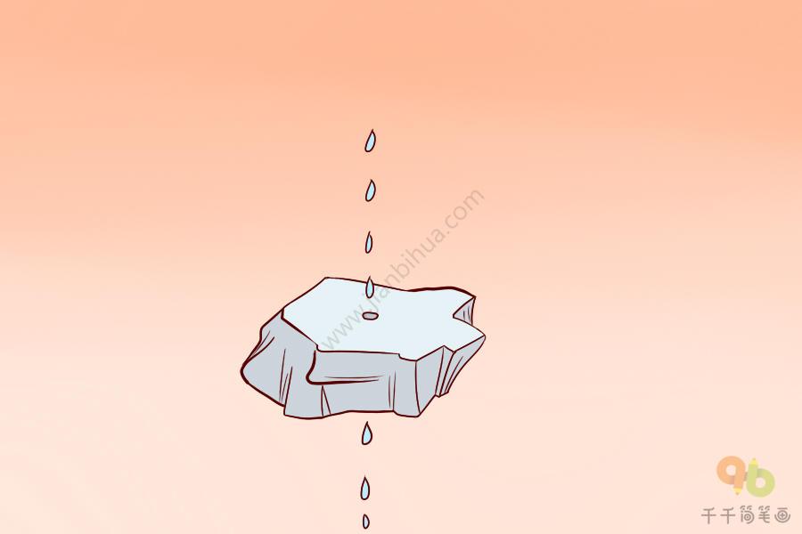 成语大全 水滴石穿简笔画