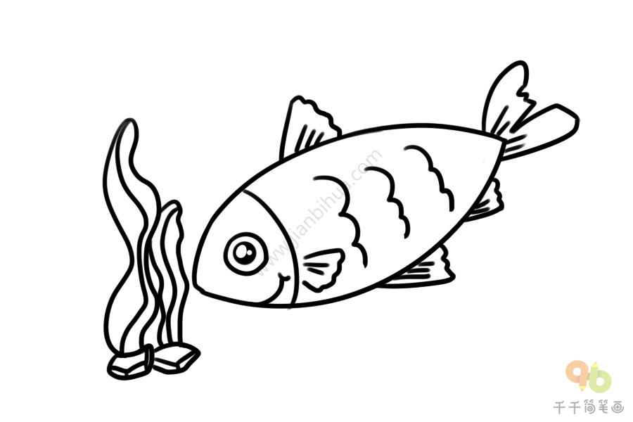 草鱼简笔画图片大全 可爱又简单