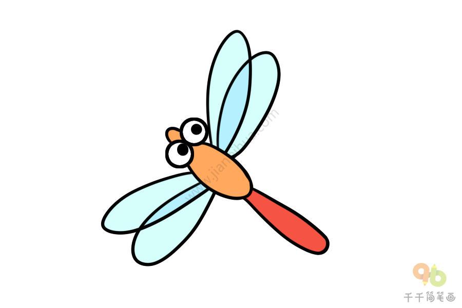 儿童简单画 蜻蜓简笔画图片大全