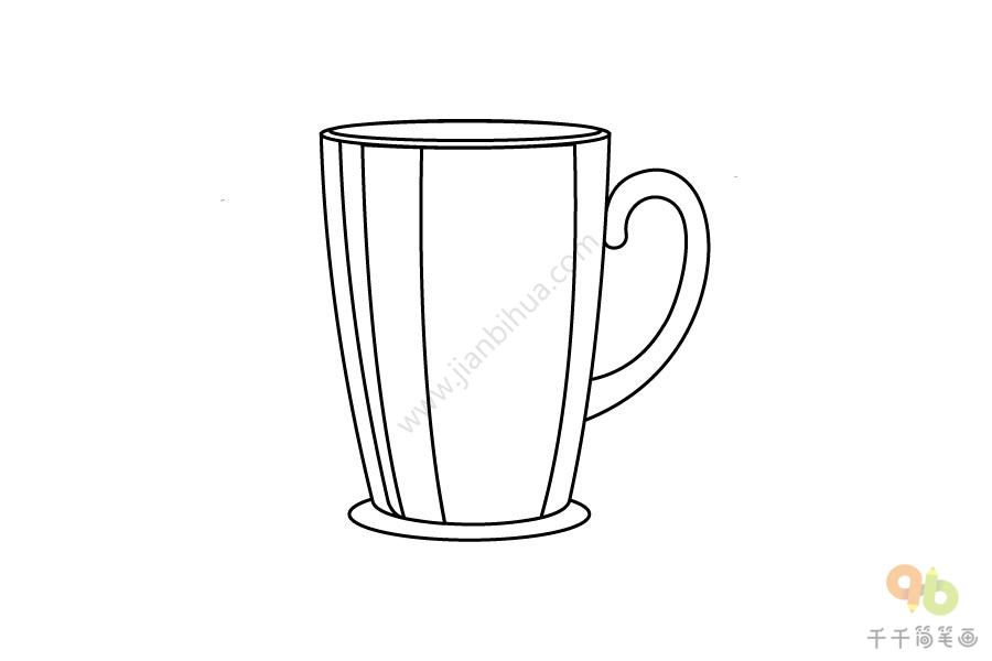 橙色的水杯简笔画步骤图