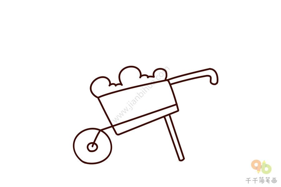 劳动节的劳动工具手推车简笔画步骤