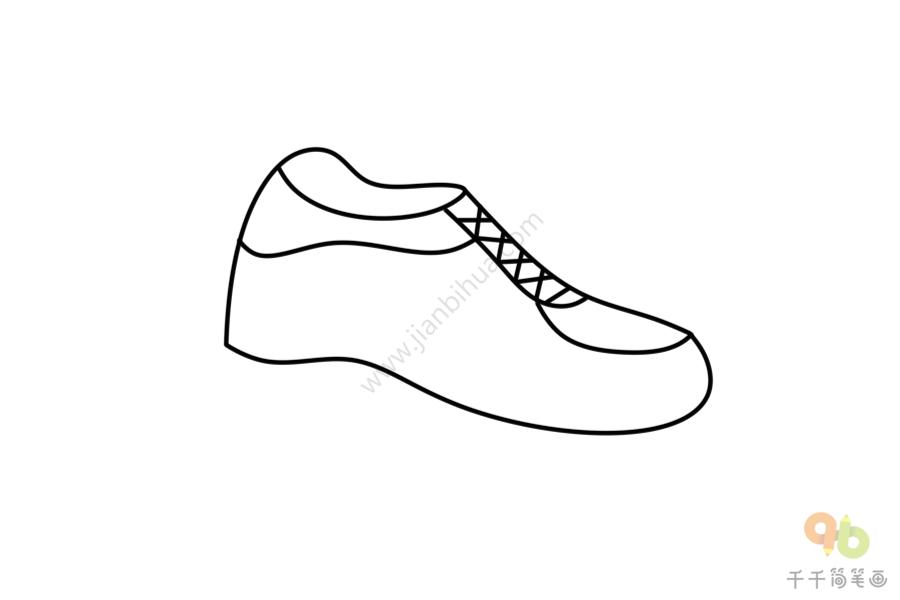 粉色运动鞋简笔画