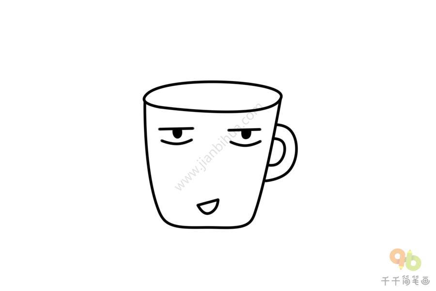 创意水杯简笔画