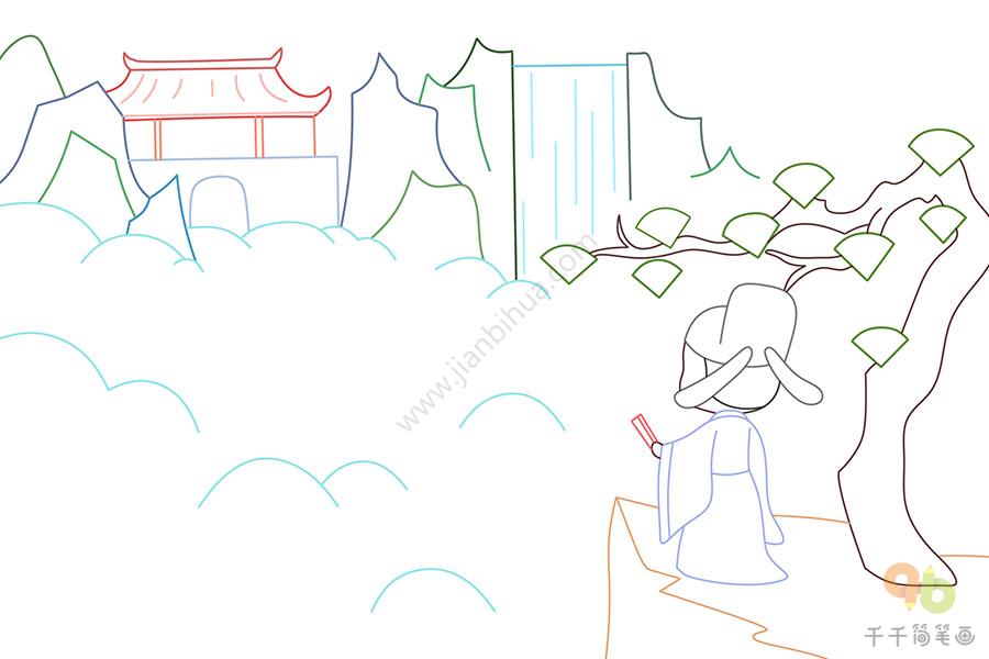 儿童蜻蜓图画_古诗凉州词配图简笔画_古诗配画简笔画