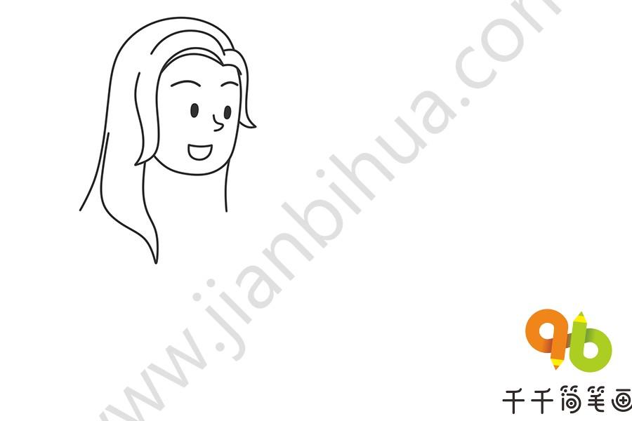第一步:画出妈妈的头部和长长的头发   第二步:画出妈妈的身体部分   第三步:画出小男孩的头部和五官   母亲节简笔画步骤图   母亲节简笔画步骤图,母亲节的时候,同学们准备在这个节日给妈妈一个什么样的礼物呢?