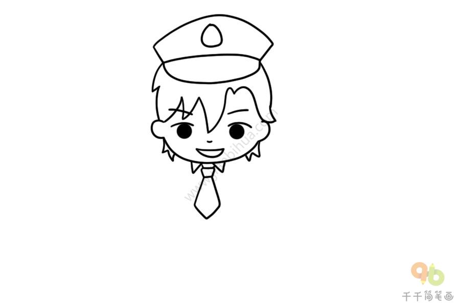 教你画警察简笔画