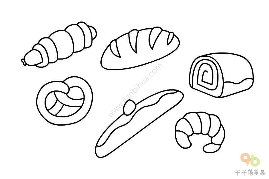 简单的面包简笔画