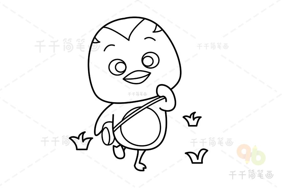 儿童填色图_萌鸡小队大宇填色图片_涂色画简笔画