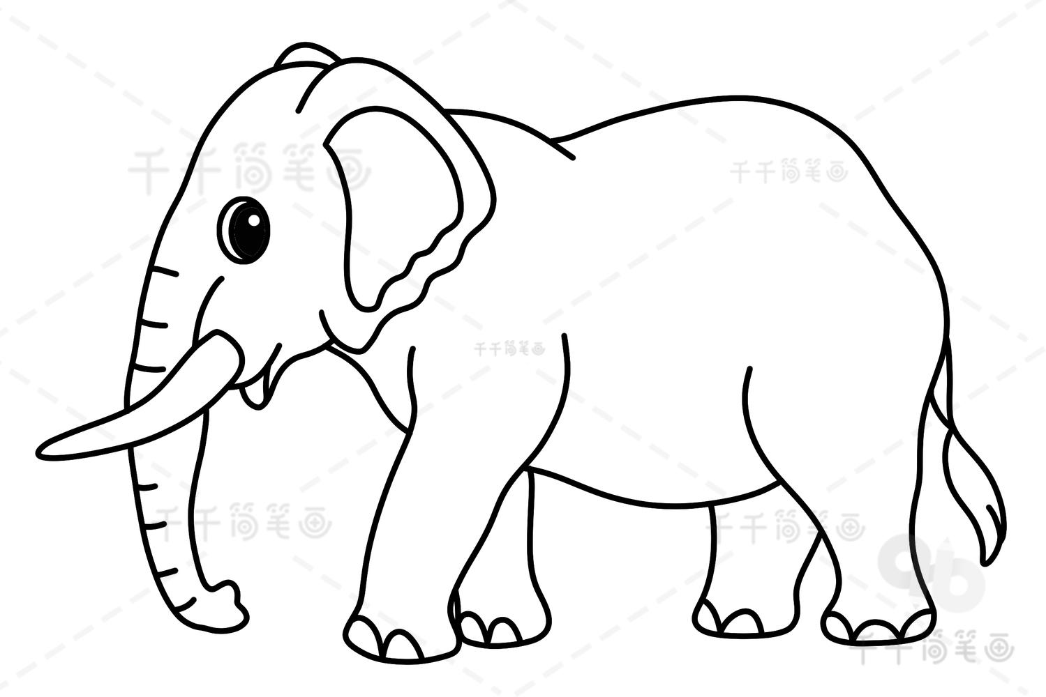 大象简笔画图片大全 大象简笔画